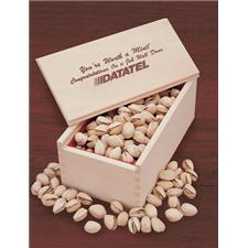 Wooden Collector Box   Jumbo California Pistachios