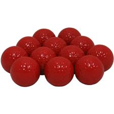 Blank Red Logo Overrun Golf Balls