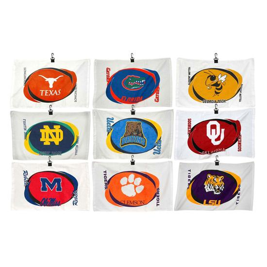Team Effort Collegiate Printed Hemmed Golf Towel
