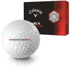 Callaway Golf HEX Diablo Linear See Feel Trust Logo Golf Ball