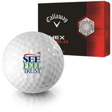 Callaway Golf HEX Diablo See Feel Trust Logo Golf Balls