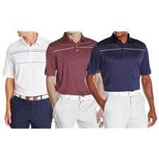 Greg Norman Men's Chest Stripe Polo