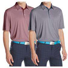 Greg Norman Men's ML75 Performance Jacquard Polo