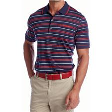 Greg Norman Men's Pride Stripe Polo