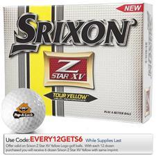 Srixon Custom Logo Z Star XV 3 Tour Yellow Golf Balls