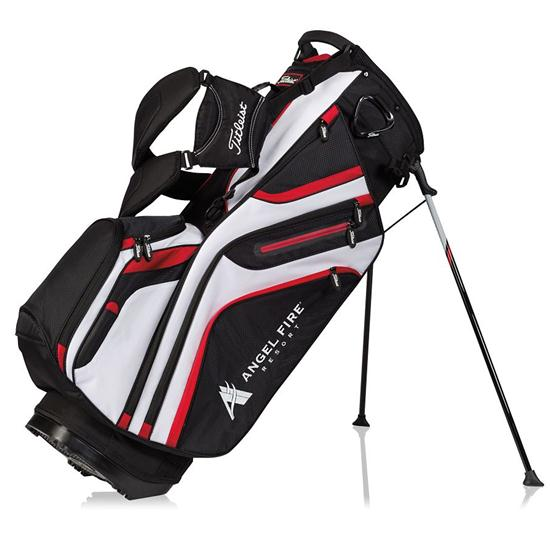 Titleist 14 Way Custom Logo Stand Bag Black White Red