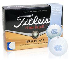 Titleist North Carolina Tar Heels Pro V1 Collegiate Golf Balls