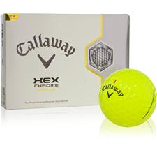 Callaway Golf HEX Chrome Yellow Personalized Golf Balls