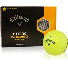 Callaway Golf HEX Warbird Yellow Personalized Golf Balls