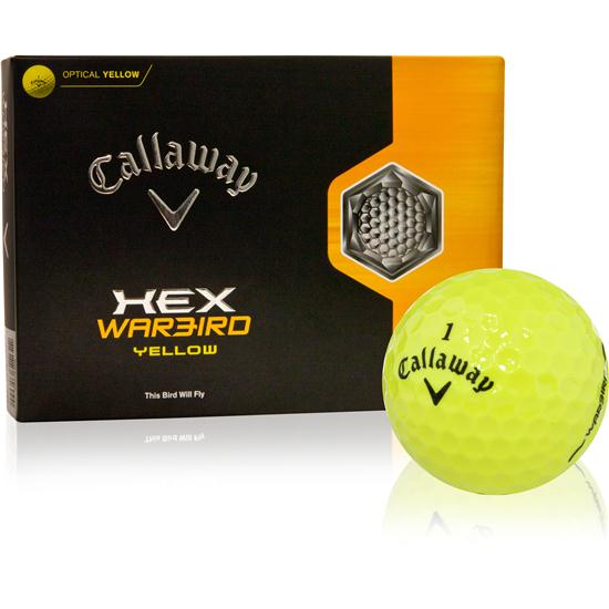Callaway Golf HEX Warbird Yellow Golf Balls