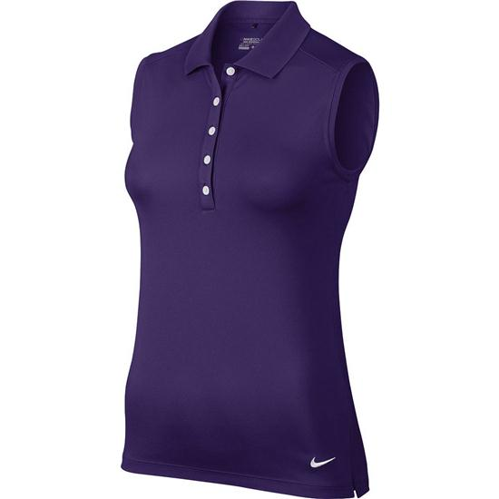 Nike victory sleeveless polo for women for Custom nike golf shirts