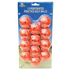 OnCourse Orange 12 pc. Perforated Practice Balls