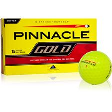 Pinnacle Custom Logo Gold Yellow Golf Balls