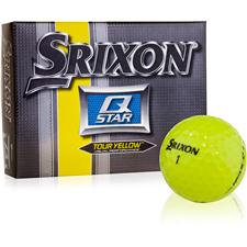 Srixon Q Star Tour Yellow Personalized Golf Balls