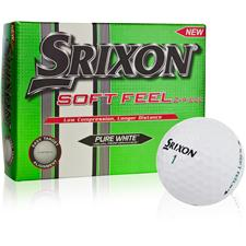 Srixon Soft Feel Pure White Personalized Golf Balls