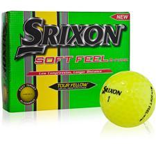Srixon Soft Feel Tour Yellow Personalized Golf Balls