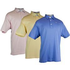 TABASCO Brand Men's Luxe Jersey Mini Check Trim Polo