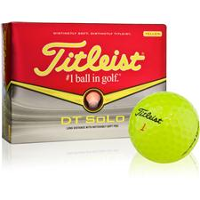 Titleist DT SoLo Yellow Personalized Golf Balls