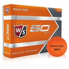 Wilson Staff Fifty Elite Orange Golf Balls - 2015 Model