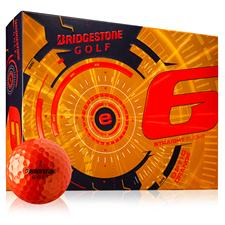 Bridgestone Custom Logo e6 Orange Golf Balls - 2015 Model