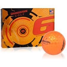 Bridgestone e6 Orange Personalized Golf Balls