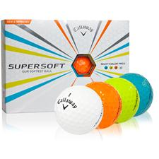 Callaway Golf Supersoft Multi-Color Golf Balls - 2015 Model