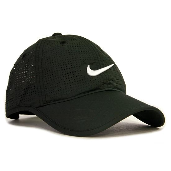 nike perforated hat for black golfballs