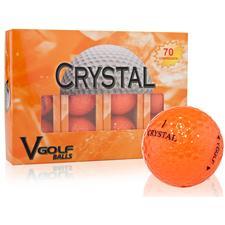 V Golf Orange Crystal Golf Balls