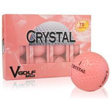 V Golf Peach Crystal Golf Balls