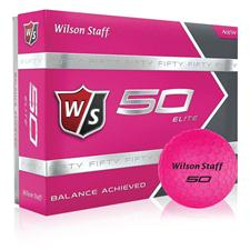 Wilson Staff Fifty Elite Pink Golf Balls - 2015 Model