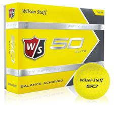 Wilson Staff Fifty Elite Yellow Golf Balls - 2015 Model