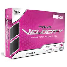 Wilson Tour Velocity Golf Balls for Women - 15 Pack