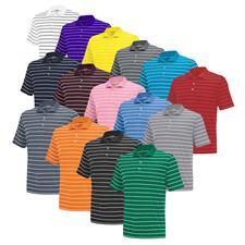 Adidas Custom Logo PureMotion 2-Color Stripe Core Jersey Polo