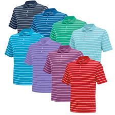 Adidas Custom Logo PureMotion 2-Color Stripe Fashion Jersey Polo