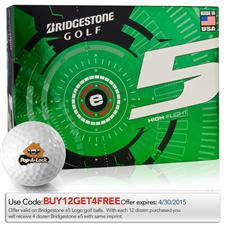 Bridgestone Custom Logo e5 Golf Balls - 2015 Model