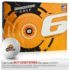Bridgestone Custom Logo e6 Golf Balls - 2015 Model