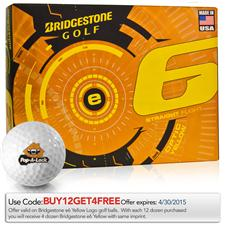 Bridgestone Custom Logo e6 Yellow Golf Balls - 2015 Model