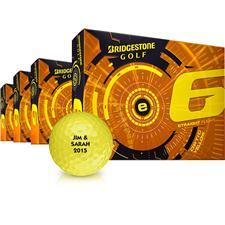 Bridgestone e6 Yellow Personalized Golf Balls - Buy 3 DZ Get 1 DZ Free