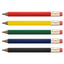 Classic Hex Golf Pencils with Eraser - 8 Pack