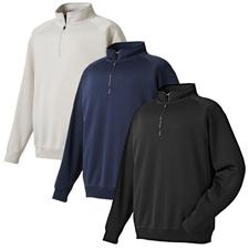 FootJoy Men's Flat Back Rib Half-Zip Pullover