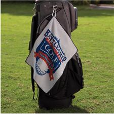 Logo Golf Custom Logo Microfiber Waffle Small Golf Towel