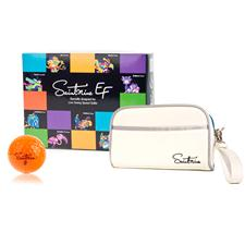 Saintnine EF 2 Piece Orange Golf Balls w/ Free Dopp Kit
