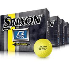 Srixon Q-Star Tour Yellow ID-Align Golf Balls - Buy 3 DZ Get 1 DZ Free