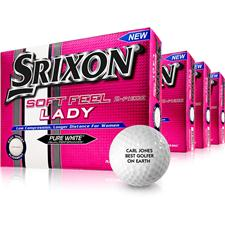 Srixon Soft Feel Lady ID-Align Golf Balls - Buy 3 DZ Get 1 DZ Free