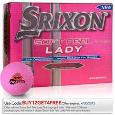Srixon Custom Logo Soft Feel Lady Pink Golf Balls
