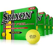 Srixon Soft Feel Yellow Golf Balls - Buy 3 DZ Get 1 DZ