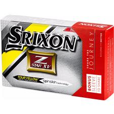 Srixon Z Star XV 4 Tour Yellow Golf Balls w/ Bonus Sleeve