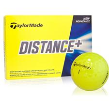 Taylor Made Distance+ Yellow Golf Balls - 2015 Model