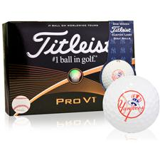 Titleist New York Yankees Pro V1 MLB Golf Balls - 2015 Model