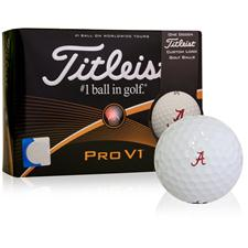 Titleist Alabama Crimson Tide Pro V1 Collegiate Golf Balls - 2015 Model